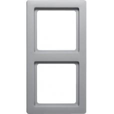Рамка 2Х пластик, алюминиевый, бархатный лак, Q.1 Berker 10126084