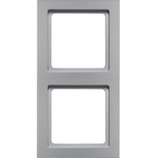 Рамка 2Х пластик, алюминиевый, бархатный лак, Q.3 Berker 10126094
