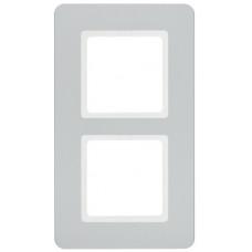 Рамка 2Х пластик, алюминий, Q.7 Berker 10126184