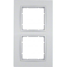 Рамка 2Х, пластик, алюминиевый, матовый B.7 Berker 10126424