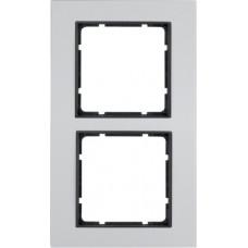 Рамка 2Х анодированный алюминий, алюминиевый/антрацитовый, матовый, B.7 Berker 10126904