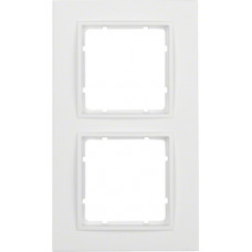 Рамка 2Х, пластик, пол.белизна, матовый, B.7 Berker 10126919