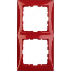 Рамка 2Х пластик, красный, глянцевый S.1 Berker 10128962