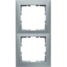 Рамка 2Х пластик, алюминиевый, матовый S.1 Berker 10129939