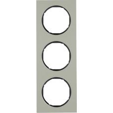 Рамка 3Х нержавіюча сталь, чорний, R.3 Berker 10132204