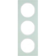Рамка 3Х скло, пол.білизна, R.3 Berker 10132209