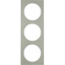 Рамка 3Х нержавіюча сталь, пол.білизна, R.3 Berker 10132214