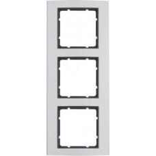 Рамка 3Х анодированный алюминий, алюминиевый/антрацитовый, матовый, B.3 Berker 10133004