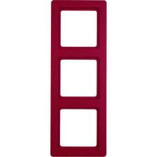Рамка 3Х пластик, красный, с эффектом бархата, Q.1 Berker 10136062