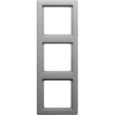 Рамка 3Х пластик, алюминиевый, бархатный лак, Q.1 Berker 10136084