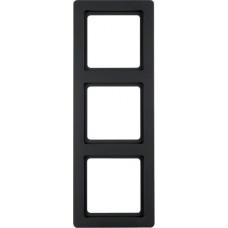 Рамка 3Х пластик, антрацитовый, бархатный лак, Q.1 Berker 10136086