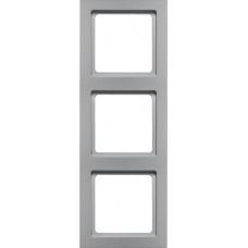 Рамка 3Х пластик, алюминиевый, бархатный лак, Q.3 Berker 10136094