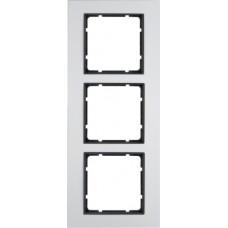 Рамка 3Х анодированный алюминий, алюминиевый/антрацитовый, матовый, B.7 Berker 10136904