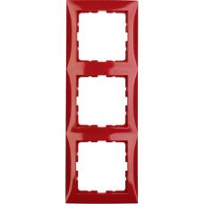 Рамка 3Х пластик, красный, глянцевый S.1 Berker 10138962