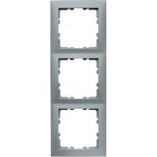 Рамка 3Х пластик, алюминиевый, матовый S.1 Berker 10139939