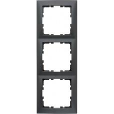 Рамка 3Х пластик, антрацитовый, матовый S.1 Berker 10139949