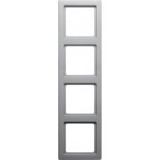 Рамка 4Х пластик, алюминиевый, бархатный лак, Q.1 Berker 10146084