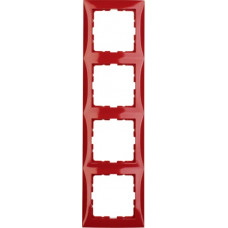 Рамка 4Х пластик, красный, глянцевый S.1 Berker 10148962
