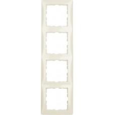 Рамка 4Х пластик, белый, глянцевый S.1 Berker 10148982