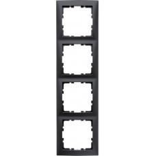 Рамка 4Х пластик, антрацитовый, матовый S.1 Berker 10149949