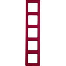 Рамка 5Х пластик, красный, с эффектом бархата, Q.1 Berker 10156062