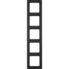 Рамка 5Х пластик, антрацитовый, бархатный лак, Q.1 Berker 10156086