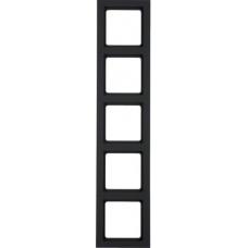 Рамка 5Х пластик, антрацитовый, бархатный лак, Q.3 Berker 10156096