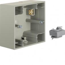 Коробка зовнішня 1Х нержавіюча сталь, метал матований, K.5 Berker 10417004