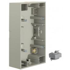 Коробка зовнішня 2Х нержавіюча сталь, метал матований, вертикальна, K.5 Berker 10427004