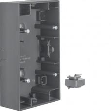 Коробка н/у 2Х антрацитовый, матовый лак, вертикальная, K.1 Berker 10427006