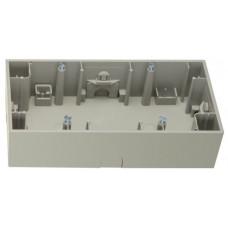 Коробка зовнішня 2Х нержавіюча сталь, метал матований, горизонтальна, K.5 Berker 10527004