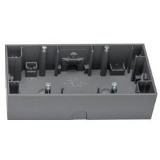 Коробка н/у 2Х антрацитовый, матовый лак, горизонтальная, K.1 Berker 10527006