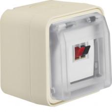 Розетка для громкоговорителя одинарная, IP55, белая, W.1 Berker 11963502