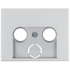 Накладка для антенной розетки 2/3 отверстия, анодированный алюминий, алюминиевый, K.5 Berker 12017013