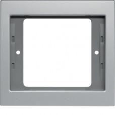 Рамка 1Х анодований алюміній, алюмінієвий, K.5 Berker 13137003