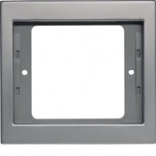 Рамка 1Х нержавіюча сталь, метал матований, K.5 Berker 13137004