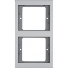 Рамка 2Х вертикальна, анодований алюміній, алюмінієвий, K.5 Berker 13237003