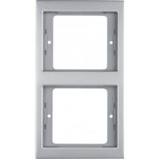 Рамка 2Х нержавіюча сталь, метал матований, вертикальна, K.5 Berker 13237004