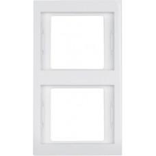 Рамка 2Х пол.белизна, глянцевый, вертикальная, K.1 Berker 13237009
