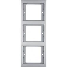 Рамка 3Х нержавіюча сталь, метал матований, вертикальна, K.5 Berker 13337004