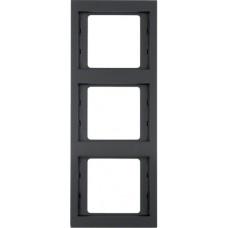 Рамка 3Х антрацитовый, матовый лак, вертикальная, K.1 Berker 13337006