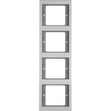 Рамка 4Х вертикальна, анодований алюміній, алюмінієвий, K.5 Berker 13437003