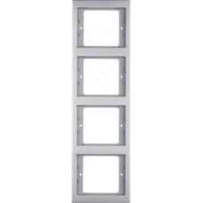 Рамка 4Х нержавіюча сталь, метал матований, вертикальна, K.5 Berker 13437004