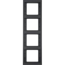 Рамка 4Х антрацитовый, матовый лак, вертикальная, K.1 Berker 13437006