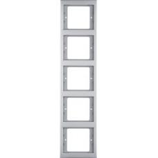 Рамка 5Х нержавіюча сталь, метал матований, вертикальна, K.5 Berker 13537004