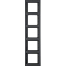 Рамка 5Х антрацитовый, матовый лак, вертикальная, K.1 Berker 13537006