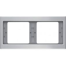 Рамка 2Х горизонтальна, анодований алюміній, алюмінієвий, K.5 Berker 13637003