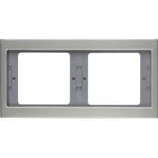 Рамка 2Х нержавіюча сталь, метал матований, горизонтальна, K.5 Berker 13637004