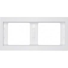 Рамка 2Х пол.білизна, глянцевий, горизонтальна, K.1 Berker 13637009