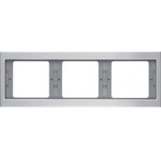 Рамка 3Х горизонтальна, анодований алюміній, алюмінієвий, K.5 Berker 13737003